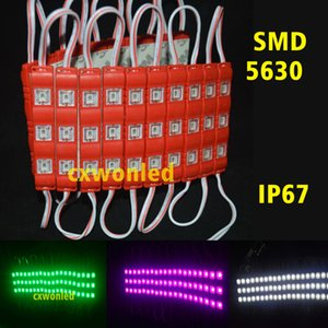 Channel Letters Backlighting Led Modules Lights 5630 3Leds 1.2W Injection Led Modules With Cover Lens 12V Waterproof For Outdoor Billboard