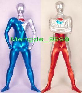 Unisex Superhero Suit 2 Estilo Fantasia Pepsi Terno Catsuit Trajes Nova Lycra Brilhante Metálico Pepsi Trajes Outfit Halloween Cosplay Terno M208