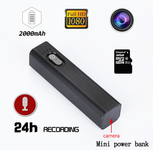 S100 HD 1080P قوة البنك المحمولة كاميرا ذات الثقب مصغرة قوة البنك كاميرا فيديو رقمية صوت مسجل فيديو البناء في بطارية 2000MAH