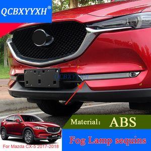 QCBXYYXH 자동차 스타일링 2pcs ABS 전면 안개 빛 트림 커버 마쓰다 CX-5 2017 2018 후면 안개 램프 외부 장식 조각 액세서리