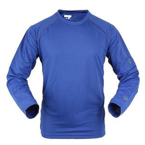 Al por mayor-Nueva marca de moda transpirable de los hombres completos de la camiseta corta Coolmax Sleeve Sport Outdoors teryx ropa de secado rápido