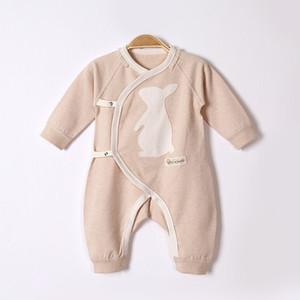 2017 autunno e inverno neonato vestiti per bambini a maniche lunghe dei jeans del fumetto modello obliquo risvolto cravatta colore cotone bambino vestiti congiunti