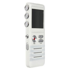 K6 8GB مسجل صوت رقمي مع ميكروفون مزدوج HD تسجيل بريميوم حالة المعادن ميكروفون و Dictaphone USB MP3 سماعات الحرة