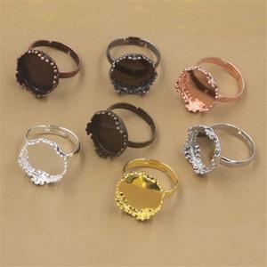 BoYuTe 20шт 15MM кабошон основание кольца Установка 7 цветов Покрытием Регулируемый кольцо Пробелы ободок Tray Diy Изготовление ювелирных изделий