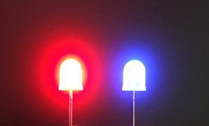 Difffused Bicolor Biocolor Grâce à des perles de lumière LED trou de 10 mm diode rouge @ couleur bleu
