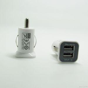 USAMS 3.1A 3100mha USB Çift Araç Şarj 5 V Çift 2 Port araba Şarj iPad iPhone 5 5 S iPod iTouch HTC Samsung
