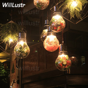 Willlustr mega bulb Pendant Lamp green plant flower decorative glass dinning room kitchen island restaurant hotel bar cafe Suspension Light