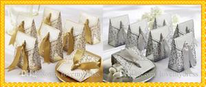 결혼식 신부 무료 염가 디자이너 2020 결혼식 사탕 상자 박스 50 조각 / 제비를 들어 패션 골드 은색 호의 홀더