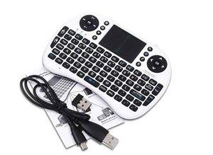 Rii i8 Klavye Hava Fare Uzaktan Kumanda için Touchpad El TV BOX PC Dizüstü Tablet Ahududu PI Denetleyici ile lityum Pil Dahil