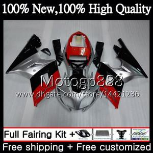 Karosserie Für Triumph Daytona 600 Rot silber 03 05 650 03 04 05 Daytona600 6PG Daytona650 Daytona 650 600 2003 2004 2005 schwarz Verkleidung Karosserie