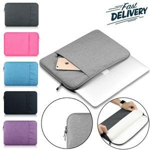 Laptop Sleeve Bırak geçirmez Toz için 13-15 inç Notebook Çantası için iPad Pro Apple ASUS Lenovo Dell, Taşınabilir 360 ° Koruyucu Taşıma çantası Çanta