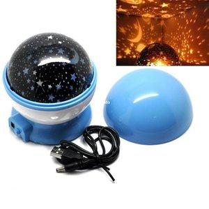 360 Graus Romântico Quarto Rotativo Estrela Projetor Starry Star Mastar Night Light # B591