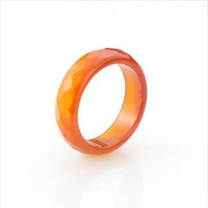 100% натуральный нефрит кольцо граненый черный красный агат кольца высокое качество ювелирные изделия кольца для женщин и мужчин