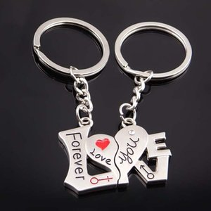 I Love You Forever Keychain Split Couple Heart Key Ring Hold Lover Fashion Jewelry gift Will and Sandy Drop Ship 170882