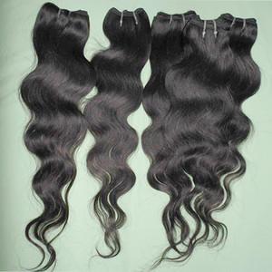 اللون الأسود الطبيعي fastthion 20pcs السائبة كيلو الملكة الملمس # 1B البرازيلي أرخص معالجتها شعر الجسم موجة الجسم