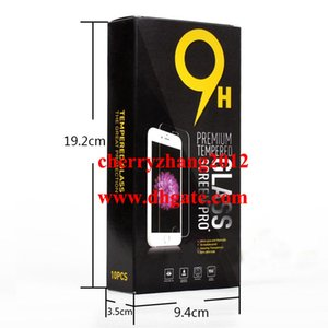 Vides Boîtes de carton pour l'emballage de vente au détail en verre trempé haut de gamme 9H Protection d'écran Sony Samsung 10pcs chaque boîte d'emballage