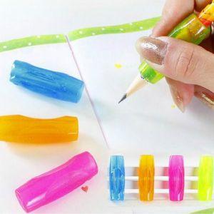 Gros-4 Pcs Doux En Caoutchouc Grip Stylo Orthèses Topper Crayon Grip Pratique Calligraphie Outils