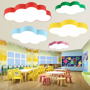Nuage led plafonnier simple moderne led chambre chambre plafonnier maternelle créative crèche aire de jeux cartoon lampe led
