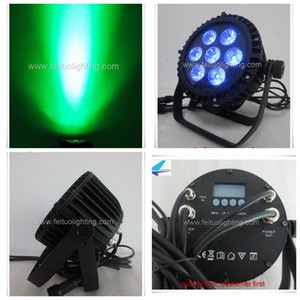 12xlot IP65 LED PAR 64 ضوء المرحلة 7 * 18W RGBWA الأشعة فوق البنفسجية 6in1 قدم المساواة أدى أضواء DJ ماء