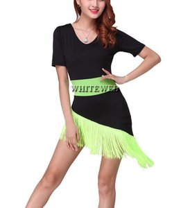 Whitewed Fringed Dance Group Wear Dancewear Costumes Clothes Ballroom Adults Multicolor Dancewear Clothing Clothes Dress Outfits Women Girl