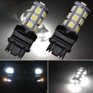 10Pcs LED 자동차 전구 3157 18SMD 12V 차가운 흰색 6000K LED 전구 브레이크 꼬리 주차 DRL 주간 러닝 라이트 범용 LED 램프