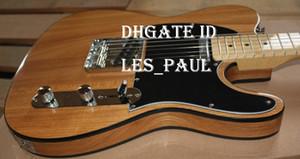 Custom Shop limitada TELE TL Telecaster Natural Elétrica Cordas Guitarra Thru corpo, Black corpo de ligação 3 Ply Preto Pickguard