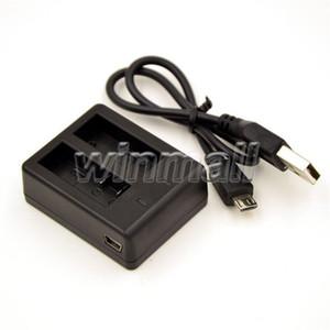SJcam SJ4000 Wifi Artı Eylem Kamera için Pil Çift Yuvası Dock Şarj EKEN H9 H9R H3R H8R Pil Aksesuarları