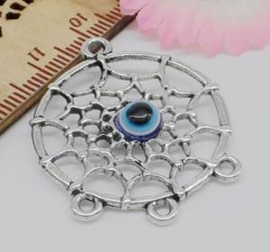 100 قطع أثرية فضية زاك موصل سحر قلادة ديي لصنع المجوهرات