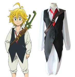 Anime Yedi Ölümcül Günah nanatsu hiçbir taizai Ejderhanın Günah Gazabı Meliodas Cosplay Kostüm Tam Set Üniforma