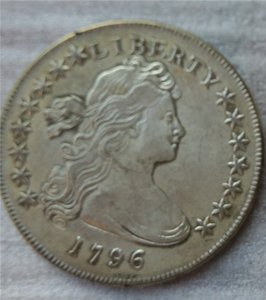 United States Draped Bust Dollar 1796 Coins Copy Archaize Old Looking US Coins Brass Crafts Coins\Whole Sale Free Shipping