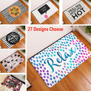27 Design Homing Door Mats for Entrance Door Character Colorful Words Printed Carpets Living Room Dust Proof Mats Home Decor HH7-245