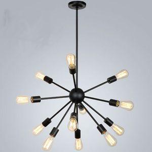 Спутниковые люстры Винтажный кованый подвесной светильник потолочный светильник Сферический светильник Spider E27 Эдисон подвесной светильник Бар Coffe Lighting