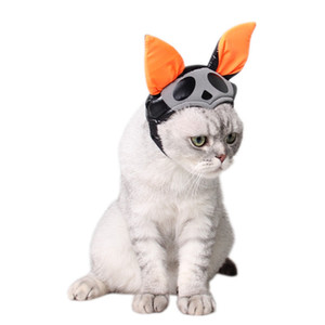 Pet Cat Dog Cap Halloween Caps Hat Kitten Headband with Bat Design Puppy Party Costume Cute Headwear Accessory Gift for Pet Cats