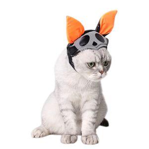 Pet Cat Dog Cap Halloween Caps Hat Kitten Headband with Bat Design Puppy Party Costume Cute Headwear Accessory Gift for Pet Cats