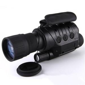 전문가 용 6x50 적외선 야간 투시경 디지털 비디오 고글 없음 열 망원경 카메라 NV760D + TDN IR 6 배 줌 HD 사냥 Monocular