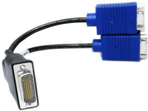 Vendita calda DMS59 a VAG cavo DMS-59 a Dual VGA Video Breakout Cable 59pin DVI TO 2 VAG femmina
