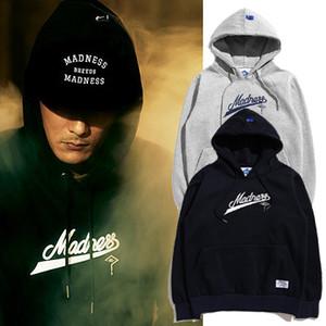 Madness çiftler hoodies sonbahar ve kış MDNS Erkek Kapşonlu hedging kazak Kaşmir kazak ceket ekle