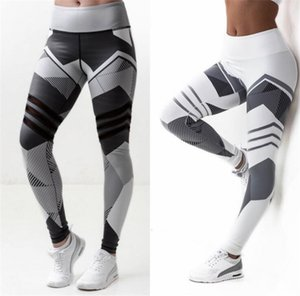 Polainas de las mujeres Leggings elásticos altos Impresión de las mujeres Legging de la aptitud Push Up Pants Ropa deportiva Leggins Jegging