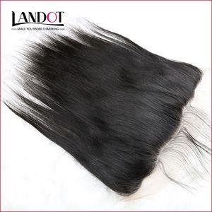 Brasilianische Straight Lace Frontal Schließung malaysischen indischen peruanischen kambodschanischen unverarbeitete reine Menschenhaar Verschlüsse 13x4 Größe mit Baby-Haar