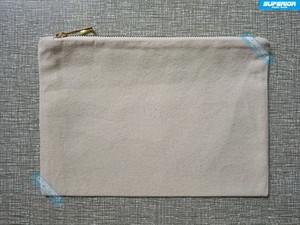 1 unid 12oz Natural Cotton Canvas Cosmetic Bag Con Metallic Gold Zipper Blank Pure Cotton Maquillaje Bolsa con forro resistente al calor emparejado