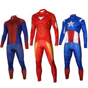 Kahraman Serisi Bisiklet Jersey Seti Bisiklet erkek Uzun Kollu Sportwear Rahat Bisiklet Giyim Formalar Boyut S-XXXL