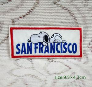EUA Comic Snoopy Bordado Applique Iron On / Sew Em Patch Sono San Francisco Bonito Camisa Do Cão Calças Saco Acessórios