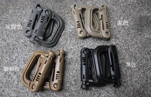 Plastic Carabiners D-Ring Primavera snap Chaveiro Clipe gancho de bloqueio Outdoor Escalada Tactical Backpack bloqueio Buckle ITW NLB