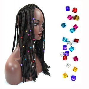Sara 1cm*0.7 cm,aluminum,18pcs  Lot Dread Lock Ring For Braided Hair Extensions Dreadlock Beads 6 Colors Braid Beads Link Beads&Rings