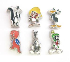 Yeni tasarım karışık stilleri sıcak satış anilmals yüzer locket charms hayvan Yaşam hafıza yüzer locket için Karikatür karakterler