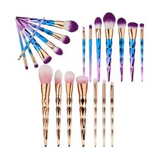 Nouveau pinceau de maquillage sirène 7 pc Rose Or et bleu pinceau de maquillage synthétique cheveux ombre à paupières pinceau de maquillage
