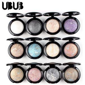 Profissional UBUB Nude Eyeshadow Paleta de Maquiagem Matte Paleta Da Sombra de Olho Maquiagem Glitter Sombra de Cor Única Rápido Frete Grátis por DHL
