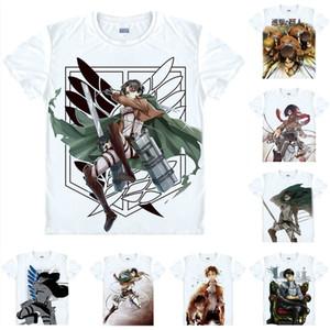 Camiseta Anime Attack on Titan Camisetas Multi estilo estilo de manga corta de Legión Levi Ackerman Cosplay Motivs Hentai Camisas