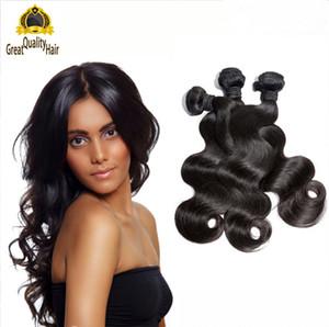 2016 Super Star Hair Style Brasiliano Peruviano Malese Capelli Naturali Colore Dei Capelli Umani Weave Bundles Onda Del Corpo 8a Estensione Dei Capelli