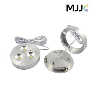 12V DC 3W Dimmable светодиодные светильники под шкаф свет лампы шайба ультра яркий теплый белый, натуральный белый, холодный белый для освещения кухни